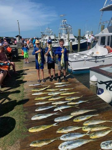 kids fishing on the outer banks