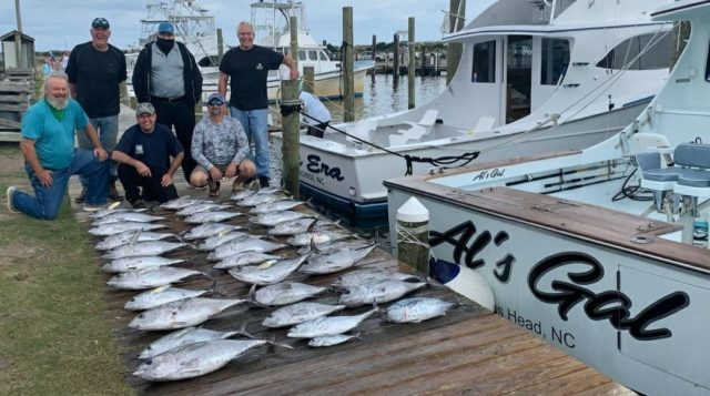 outer banks fishing for blackfin
