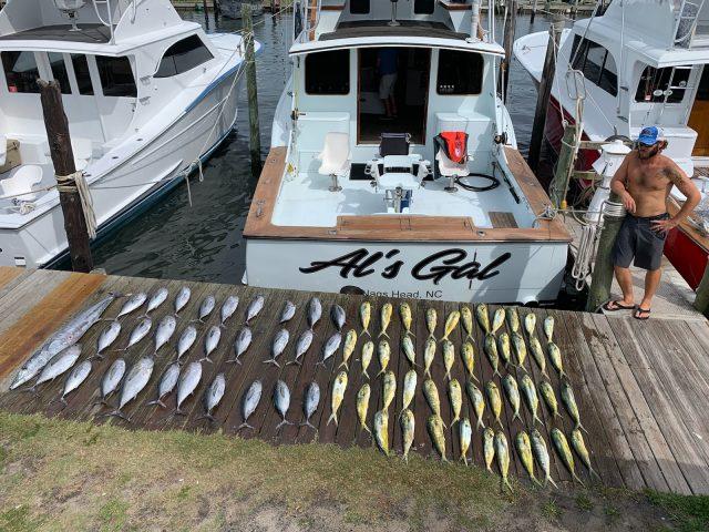 tuna and mahi fishing on the outer banks